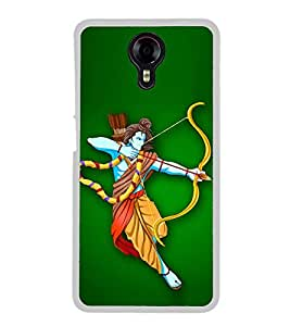 Fiobs Designer Back Case Cover for Micromax Canvas Xpress 2 E313 (Ram God Hindu Ramchandra)