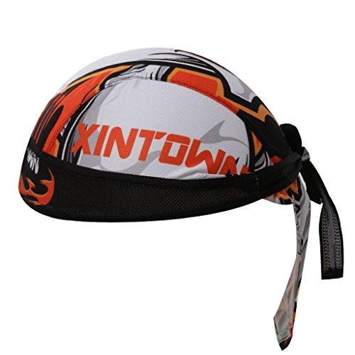 GWELL Bandana Cap Atmungsaktiv Kopftuch Skelette Leopard Bikertuch UV Schutz Fahrrad Erwachsene Radsport Muster-4