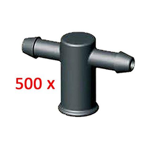 aliespain® Adaptateur gotero 2 sorties pour connecter Microtubo a goteros d'irrigation. Lot de 500