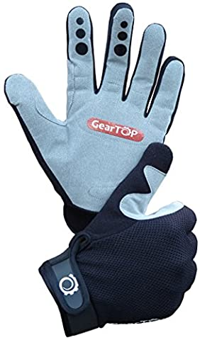 Mountain Biking Gloves - Great for Cycling, Performance Specialized Bike for Women and Men (Black-Gray, Large)