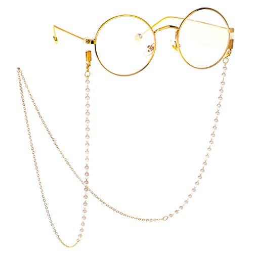 Fauhsto Brillenb?nder & -ketten f¨¹r Damen Glasses Chain Modisch Brillekette Lesebrillen Perlenkette Brillen Cord Brillenband Sonnebrillen Band Kette Brille Hals Cord
