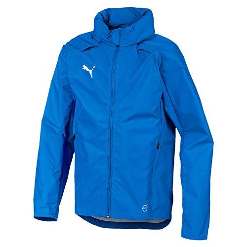 PUMA Kinder Liga Training Rain Jacket, Electric Blue Lemonade White, 152