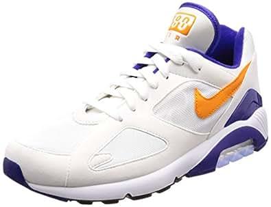 Mens Air Max 93 Gymnastics Shoes, White, Habanero Red Nike