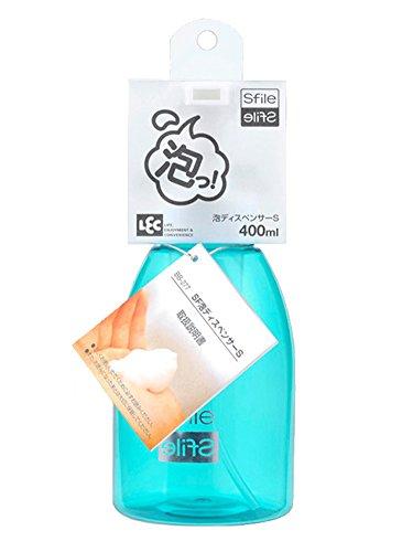 LTCT Clear Plastic Foamer Bottle Pump Foaming Soap Shower Gel Shampoo Pump Small Soap Dispenser 400ml (Blue)