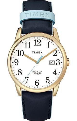 Timex Orologio Analogico Quarzo Donna con Cinturino in Pelle TW2R62600JT