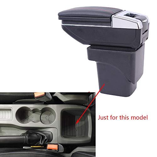 Cobear Auto Mittelarmlehne Mittelkonsole Armlehne Leder Passt für Focus MK2 2009-2011 Mittelarmkonsole Unterstützung mit Aschenbecher Telefon/Getränke Halter schwarz