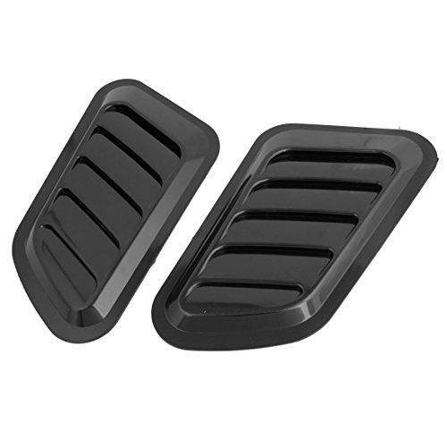 Vent Haube Abdeckung (sourcingmap® Car Auto Haube Bumper Lufthutze Vent Seiten Fender Abdeckung Dekor schwarz 2pcs)