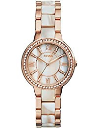 Fossil Virginia Analog Mother of Pearl Dial Women's Watch - ES3716