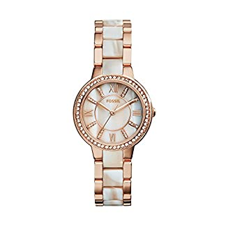 Fossil Virginia Analog Mother of Pearl Dial Women's Watch – ES3716