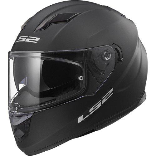 Ls2 casco moto ff320 stream evo, matt black, taglia m