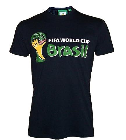 T-shirt COUPE DU MONDE 2014 de football au BRESIL - Collection officielle FIFA - L