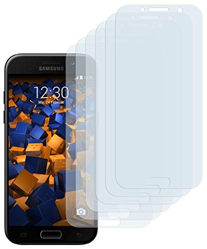 mumbi Schutzfolie kompatibel mit Samsung Galaxy A5 2017 Folie klar, Displayschutzfolie (6X)