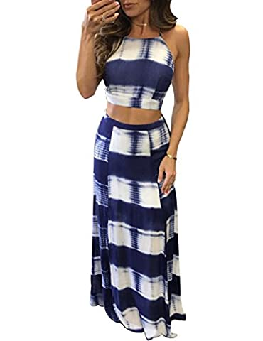 Ninimour Womens Tie Dye Print Crop Top Side Slit 2