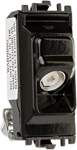 MK Electric Grid Plus nicht isolierte TV CO Axial Outlet schwarz 1 Switch Modul - Schwarz Grid Switch