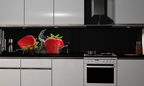 Küchenrückwand Folie selbstklebend Cherry Klebefolie in verschiedenen Größen   Fliesenspiegel   Dekofolie   Spritzschutz   Küche   Möbel-Folie