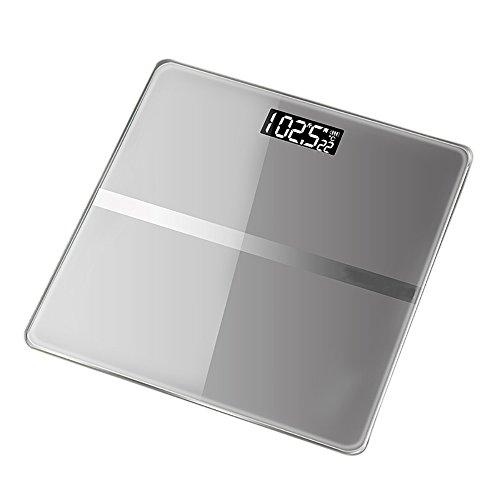 Scales RTC Elektronische Waagen USB-Ladewaage Menschlicher Körper Präzise Gewichtsskalen Gewichtsskala Verlieren (Farbe : Grau)