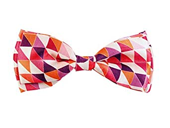 602e24a7cee1 Blacksmith Abstract Pink Design Bow Tie for Men Bowtie: Amazon.in ...