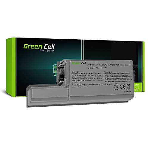 Green Cell CF623 DF192 Extended Serie Laptop Akku für Dell Latitude D820 D820 D531 Dell Precision M65 M4300 (9 Zellen 6600mAh 11.1V Silber) (Latitude Akku D830)