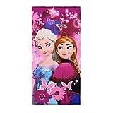 Reine des neiges Drap de Bain - Serviette de Plage Disney Frozen 100% Microfibre...