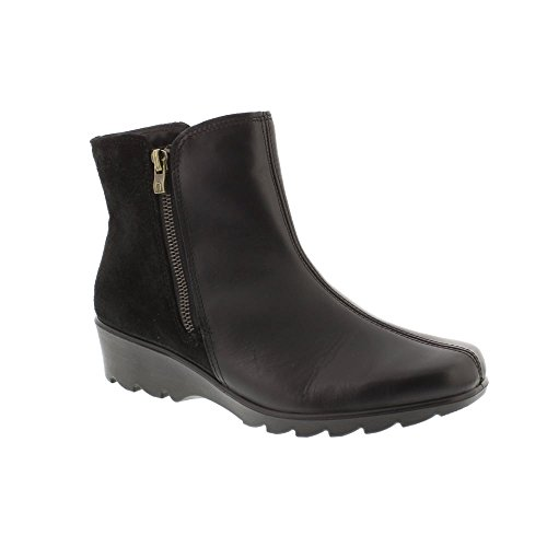 Hotter Esther - Black Leather Womens Boots 4.5 UK