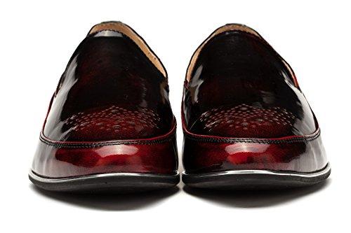 OPP Chaussures de Travail en Cuir 2016 Nouvelle Collection Pour Hommes Rouge Vineux