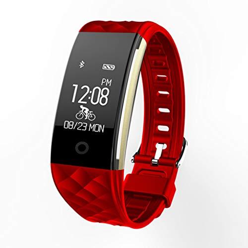 VERYMIN Smart Uhr Smart Armbanduhr wasserdicht IP67 Smartwatch mit Pulsmesser Fernkamera Sport Fitness Tracker Armband, rot (Uhr Bicycle Gear)