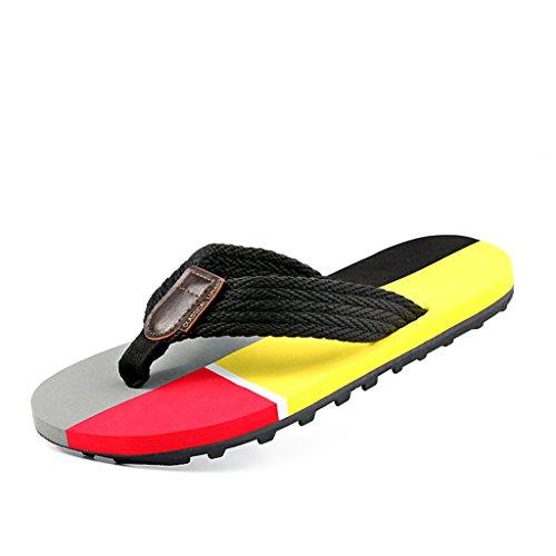 ALUK- Sandales d'été - Hommes Pieds Wear Wear Trend Simple Beach Cool Chaussons ( taille : 42 )