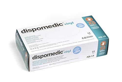 Dispomedic Vinyl Guante sin Polvo,  XS