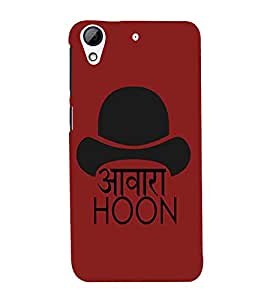 For HTC Desire 728 Dual Sim :: HTC Desire 728G Dual Sim awara hoon, good qoutes, red background Designer Printed High Quality Smooth Matte Protective Mobile Case Back Pouch Cover by APEX