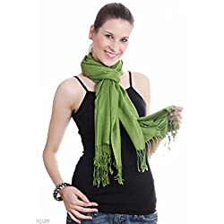 Stylezee Large Soft Viscose Pashmina Shawl Wrap Scarf in Solid Color