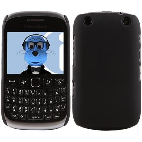 iTALKonline BlackBerry 9315 Curve NERO Difficile Saluto dura della cassa della pelle Soft Grip Slim