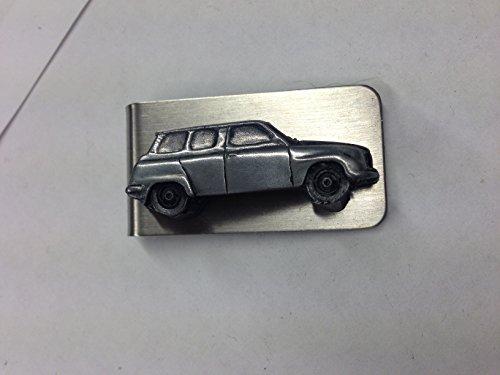 saab-96-v4-ref220-3d-embleme-voiture-sur-un-superbe-effet-etain-pince-a-billets