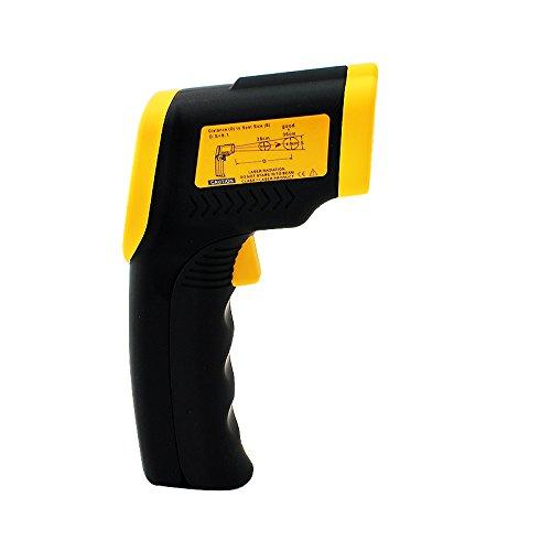 denshine LCD IR Infrarot Digital Temperatur Test Laser Thermometer mit Temperaturbereich-50bis 380℃ (-58bis 716°F)