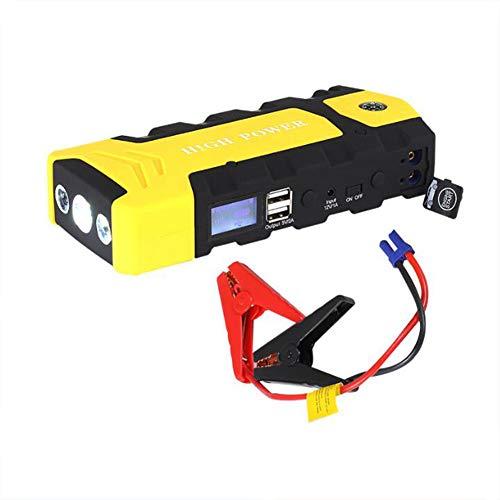 Auto Starthilfe 600A 16800mAh Jump Starter Starthilfe Powerbank (Bis Zu 6.0L Benzin, 3.0L Diesel) 12V Autobatterie Anlasser Akku Starthilfe Mit Dual USB AusgäNge LED Taschenlampe(4-Modus-Beleuchtung) (Starter-pumpe Jump)