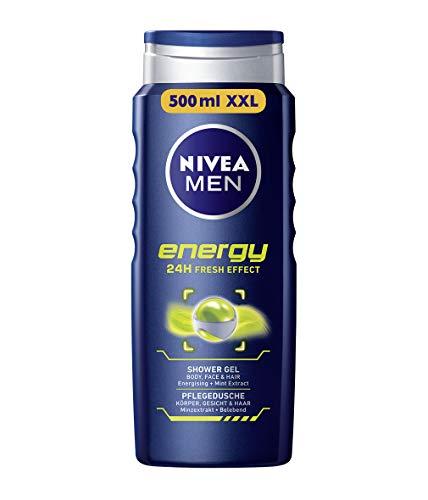Nivea Men Duschgel für Körper, Gesicht & Haar, Energy, 3er Pack(3 x 500 ml) -