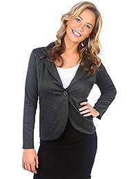 KRISP® Femmes Vestes Jersey Blazer Cintré Chic Casual Différentes Couleurs