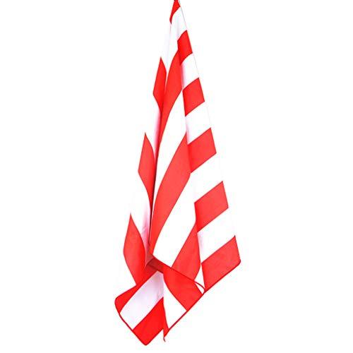FURU Strandtücher,7 Farben Erwachsene Kinder Mikrofaser Schnell Trocknend Rechteck Handtuch Heller Kontrast Farbige Vertikale Streifen Gedruckt -