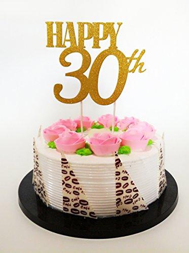 """Gold-Glitzer """"Happy 30th Birthday Cake Topper, Forever 30Partyzubehör-30. Geburtstag Party Dekoration"""