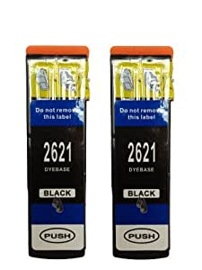 2x T2621 Black Compatible (Polar Bear 26XL Series) High Capacity XL Ink Cartridges For EPSON Expression Premium XP600 XP605 XP700 XP800 Inkjet Printers. With chip installed and will show ink levels. FREE DELIVERY and VAT RECEIPT with every order.