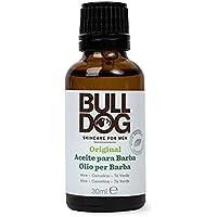 Bulldog Skincare for Men Original - Aceite Hidratante para Barba, cuidado facial masculino con ingredientes naturales, fórmula con Aloe Vera, Té Verde y Aceite de Camelia, formato 30 ml