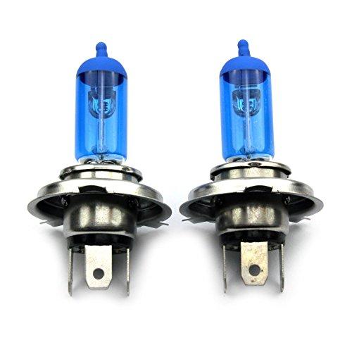 Preisvergleich Produktbild JurmannTrade GmbH® H4 Xenon Style Lampen/Halogen Birne mit 100W, Xenon Look, vorne/hinten, als Fernlicht/Abblendlicht/Nebelscheinwerfer verwendbar!