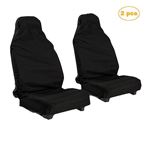 Eizur 2pcs coprisedile auto universali, coprisedili per auto anteriori, impermeabile coperture sedile auto, protezione del sedile per auto, nero