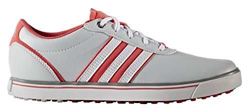 adidas Damen Adicross V Golfschuhe, Grau (Clear Grey/White/Core Pink), 42