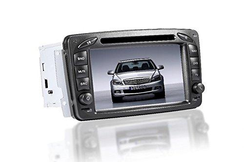 GOWE 2DIN coche reproductor de DVD 7pulgadas de navegación GPS para Benz C W203/CLK W209/W639(modelos 2000–2005con Bluetooth/Radio/RDS/iPod/ATV/Canbus/SWC