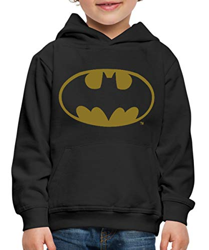 DC Comics Batman Logo Gold Kinder Premium Hoodie, 152/164 (12-14 Jahre), (Wirklich Coole Superhelden Kostüm)