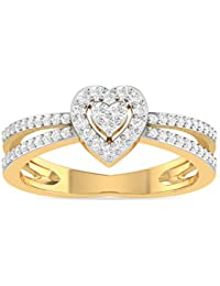 PC Jeweller The Sweetheart 18KT Yellow Gold and Solitaire Ring for Women