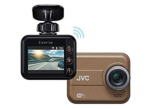 JVC KENWOOD GC-DR20 Dashcam with WiFi, Full HD, Shock Sensor, LED Signal Support, WDR and microSDHC Card Included [Japan Genuine Product][Brown]