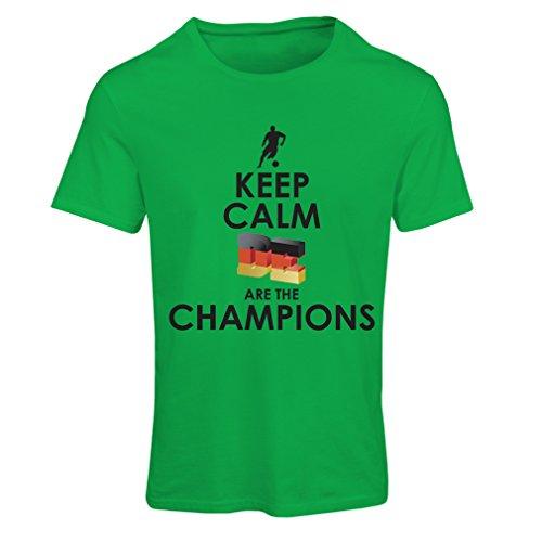 Frauen T-Shirt Deutsche sind die Champions - Russland-Meisterschaft 2018, WM-Fußball, Team von Deutschland Fan-Shirt (XX-Large Grün Mehrfarben) -