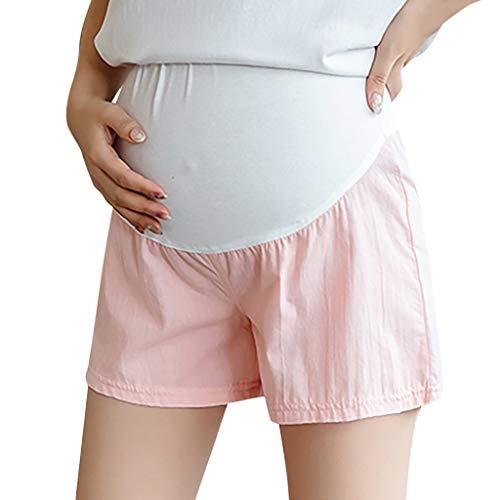 , Kurze Baumwolle Umstandsshorts Umstandshose mit Bauchband für Sommer Elastische Mutterschaft Kurz Hose ()