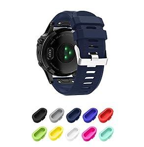 SUPORE Bracelet Garmin Fenix 5X, Bracelet de Remplacement en Silicone Souple pour Garmin Fenix 5X 51mm GPS/Fenix 5X Plus Smart Watch
